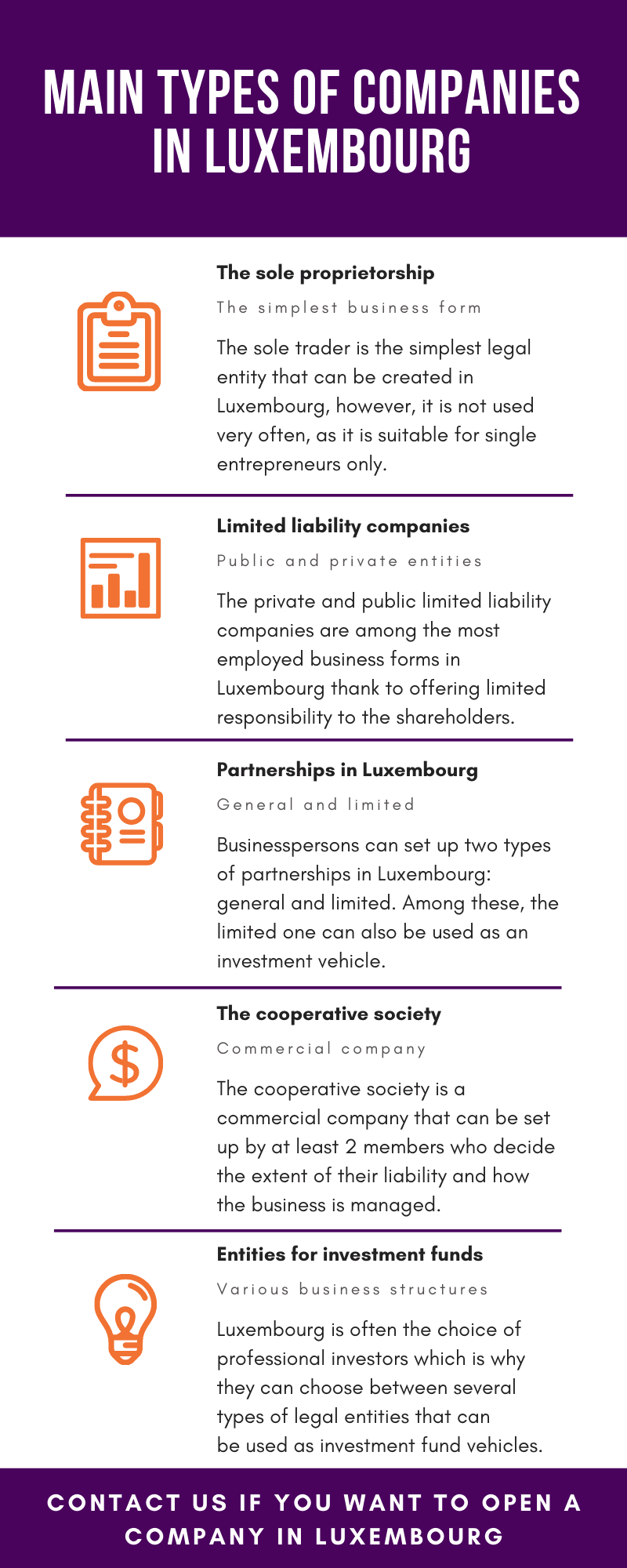 Main Types of Companies in Luxembourg